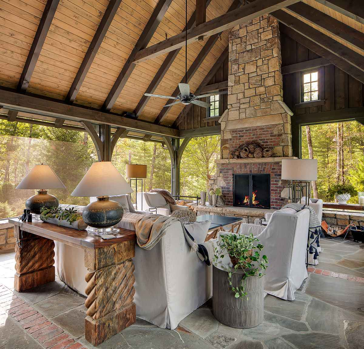 9 Cow Rock Residence - Outdoor seating with fire place