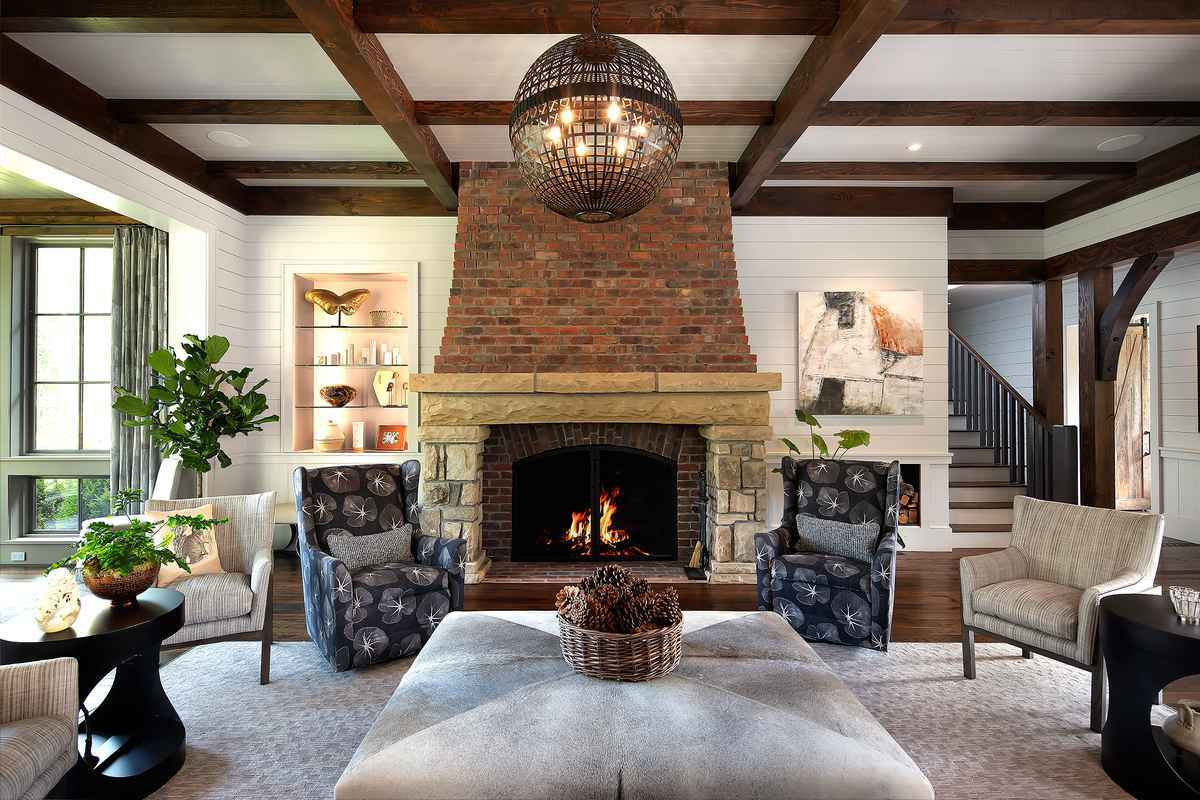 9 Cow Rock Residence - Den fire place